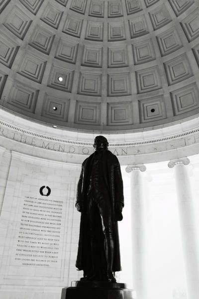 Photograph - Jefferson Memorial Statue by Brandon Bourdages