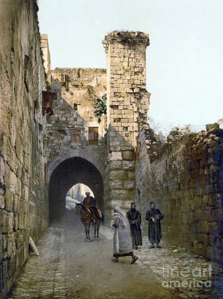 Photograph - Jerusalem: Via Dolorosa by Granger