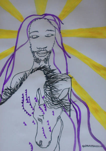 Painting - Jesus - Faithful And True by Gloria Ssali