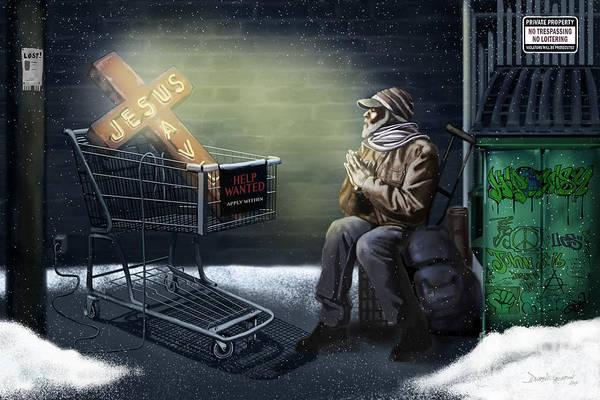 Digital Art - Jesus Saves  by Dwayne Glapion