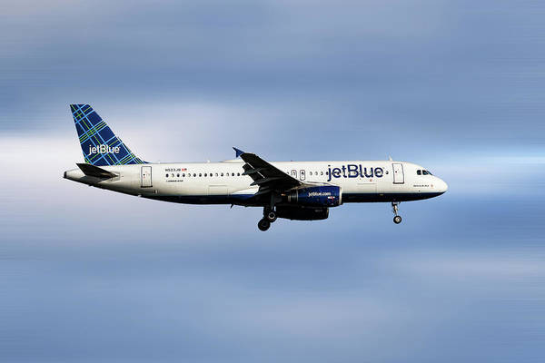 Jetblue Wall Art - Mixed Media - Jetblue Airways Airbus A320-232 by Smart Aviation