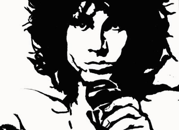 Urban Legend Digital Art - Jim Morrison by Kevin Jurva