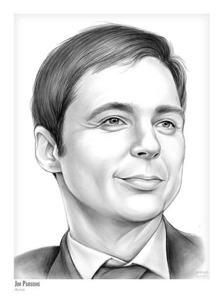Drawing - Jim Parsons by Greg Joens