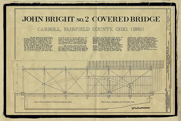Photograph - John Bright Covered Bridge by Jack R Perry