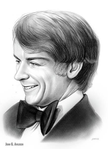 Rocky Wall Art - Drawing - John Guilbert Avildsen by Greg Joens