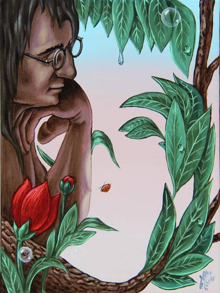 Painting - John Lennon by Victor Molev