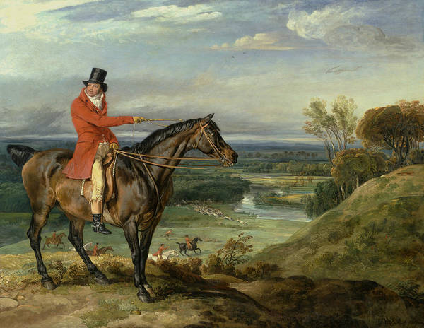 Ward Painting - John Levett Hunting At Wychnor, Staffordshire by James Ward