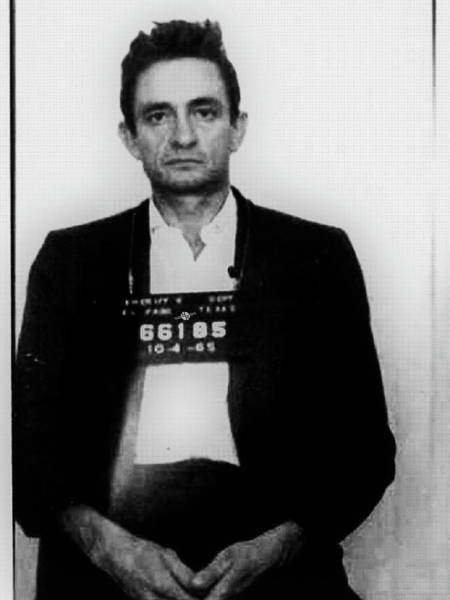 Painting - Johnny Cash Mug Shot Country Music by Tony Rubino