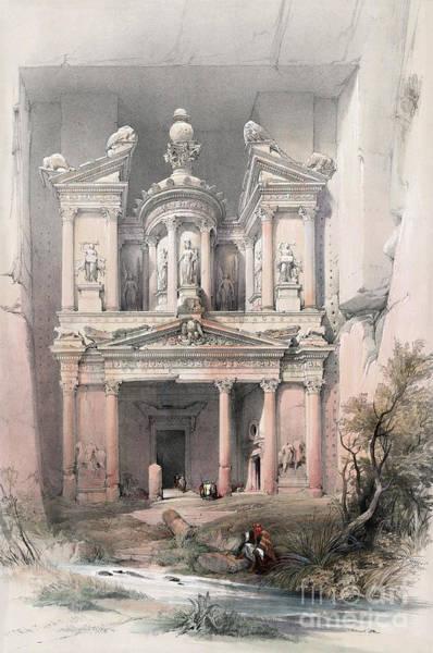 Drawing - Jordan, Petra, 1839. by Granger