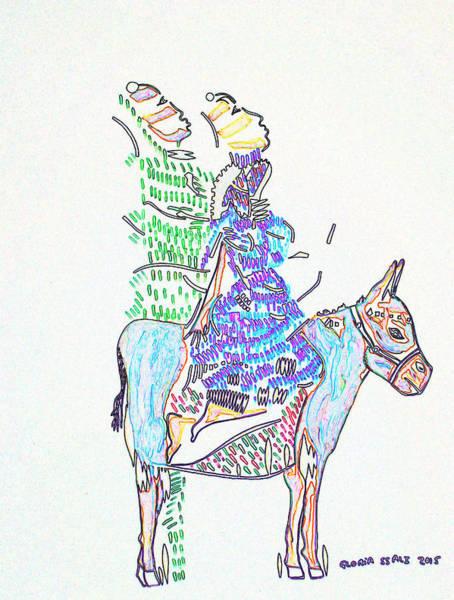 Mama Africa Wall Art - Painting - Journey To Bethlehem - Joseph And Mary by Gloria Ssali