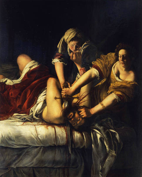 Wall Art - Painting - Judith Beheading Holofernes by Artemisia Gentileschi
