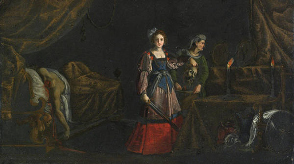 Painting - Judith With The Head Of Holofernes by Jacques Stella