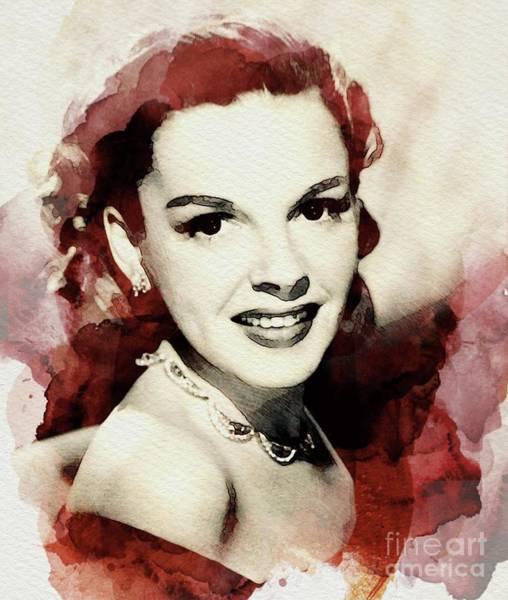 Wall Art - Digital Art - Judy Garland, Vintage Actress by John Springfield