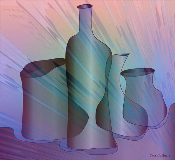 Jug Digital Art - Jugs 7 by Iris Gelbart