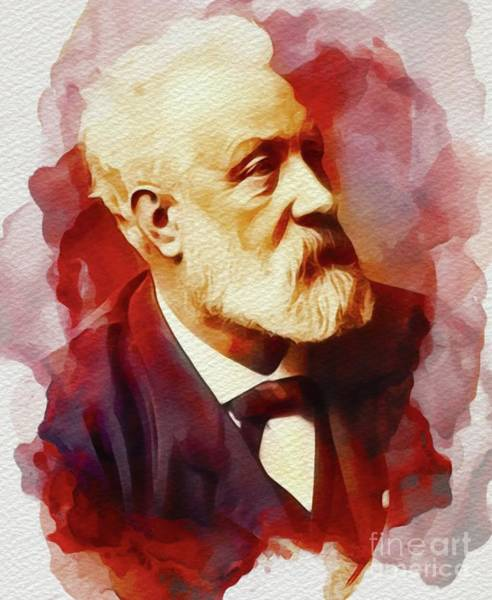 Jules Verne Wall Art - Painting - Jules Verne, Author by John Springfield