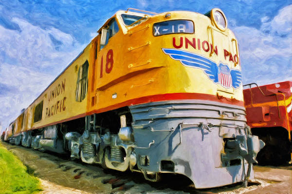 Diesel Trains Painting - Just Resting by Dominic Piperata