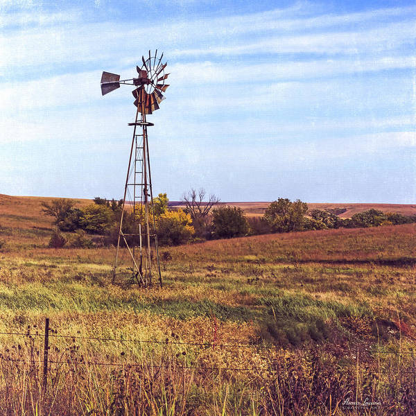Photograph - Kansas Prairie Windmill by Anna Louise