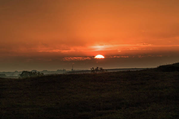 Photograph - Kansas Sunrise by Jay Stockhaus