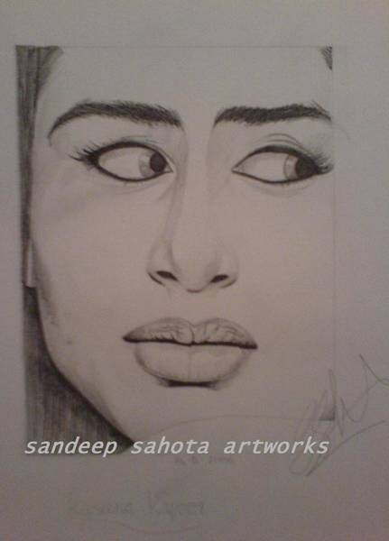 Orlando Bloom Painting - Kareena Kapoor by San Art Studio