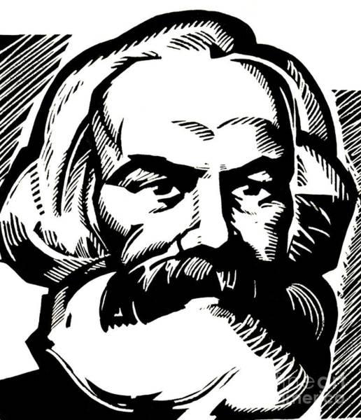Theorist Wall Art - Drawing - Karl Marx by Russian School