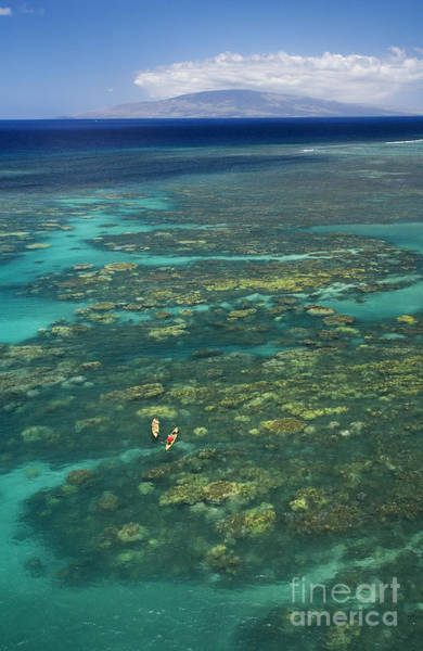 Expanse Photograph - Kayaking Through Beautiful Coral by Ron Dahlquist - Printscapes