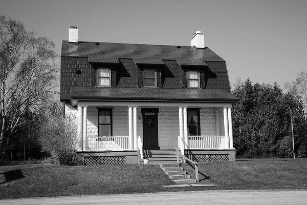 Photograph - Keeper's House - Presque Isle Light Michigan Bw by Frank Romeo
