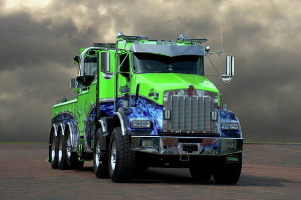 Photograph - Kenworth Big Rig Tow Truck by Tim McCullough