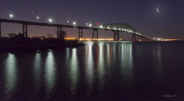 Wall Art - Photograph - Key Bridge At Night by Brian Wallace