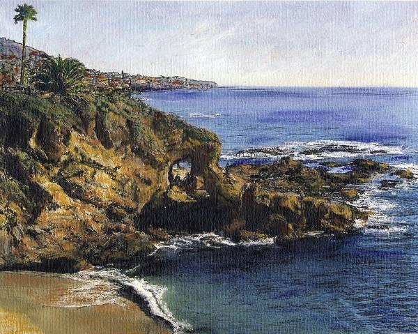 Laguna Beach Mixed Media - Key Hole Arch Laguna by Randy Sprout