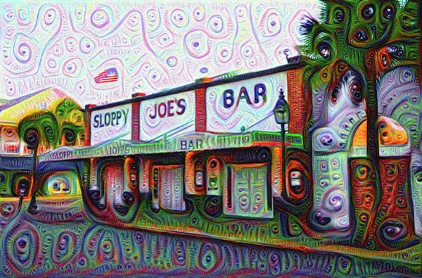 Photograph - Key West Florida Sloppy Joes Bar by Bill Cannon