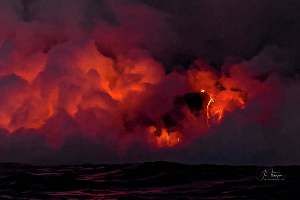 Photograph - Lava Flowing Into The Ocean 0 by Jim Thompson