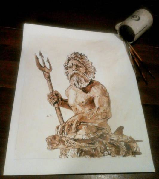 Wall Art - Painting - King Neptune by Nathanael Manzer
