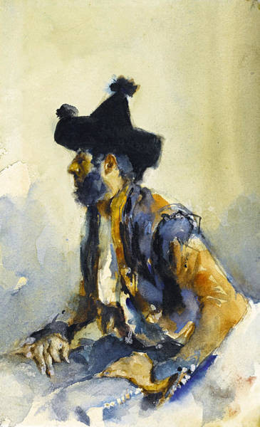 Impressionistic Drawing - King Of The Gypsies by John Singer Sargent