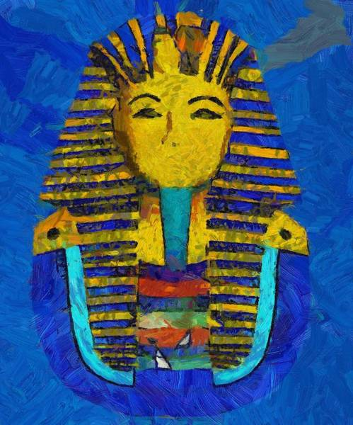 Fortification Wall Art - Painting - King Tut by Pierre Blanchard