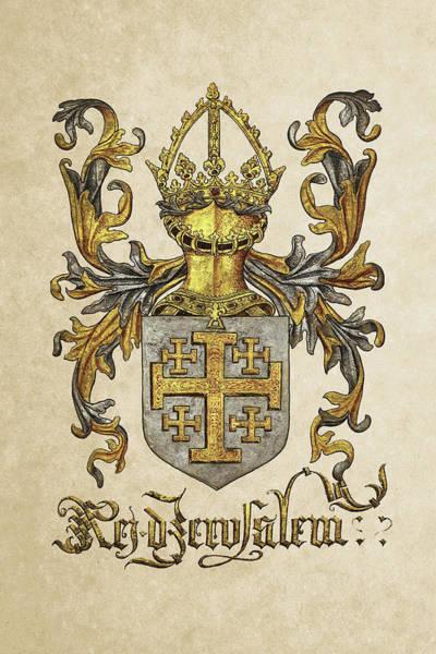 Armorial Photograph - Kingdom Of Jerusalem Coat Of Arms - Livro Do Armeiro-mor by Serge Averbukh