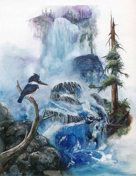 Painting - Kingfisher's Realm by Sherry Shipley