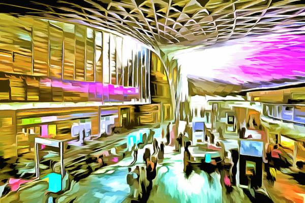 Wall Art - Mixed Media - Kings Cross Rail Station London Art by David Pyatt