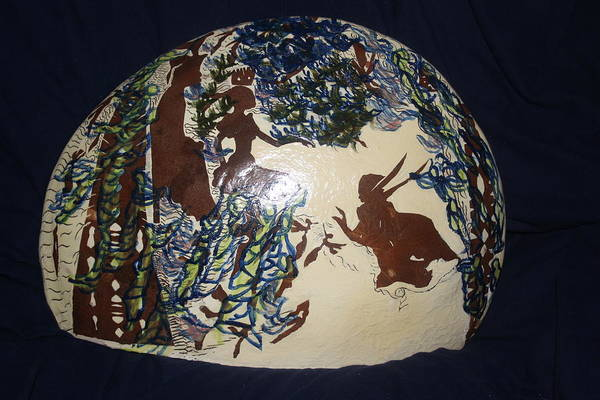 Ceramic Art - Kintu And Nambi by Gloria Ssali