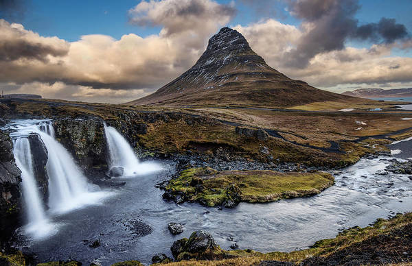 Photograph - Kirkjufellsfoss Waterfall And Kirkjufell Mountain, Iceland by Pradeep Raja PRINTS