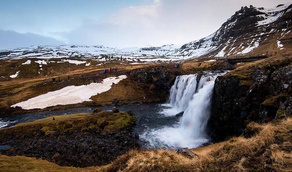 Outdoor Wall Art - Photograph - Kirkjufellsfoss Waterfalls Iceland by Michalakis Ppalis