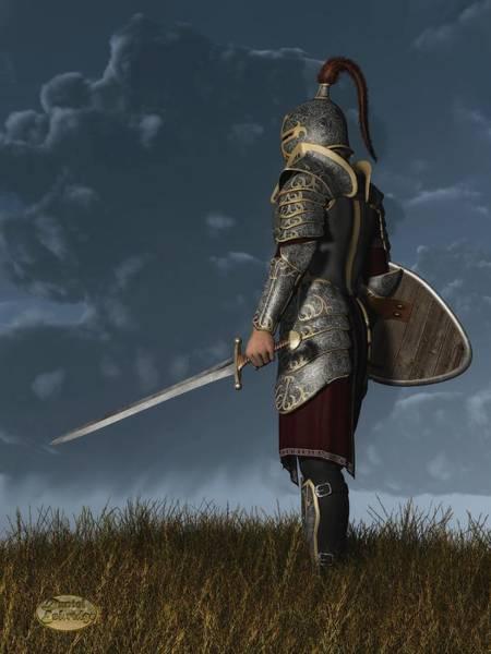 Digital Art - Knight Of The Storm by Daniel Eskridge