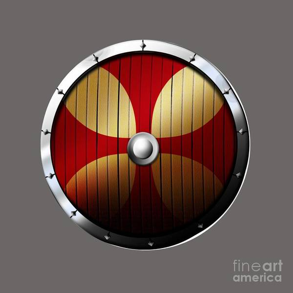 Satanism Digital Art - Knights Templar Shield by Frederick Holiday