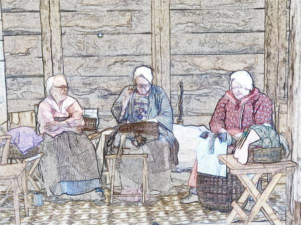 Knitting Digital Art - Knitters by Robert Nelson