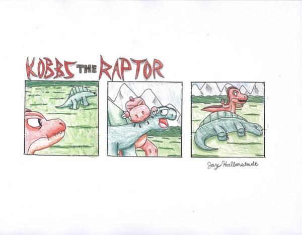 Drawing - Kobbs The Raptor by Jayson Halberstadt