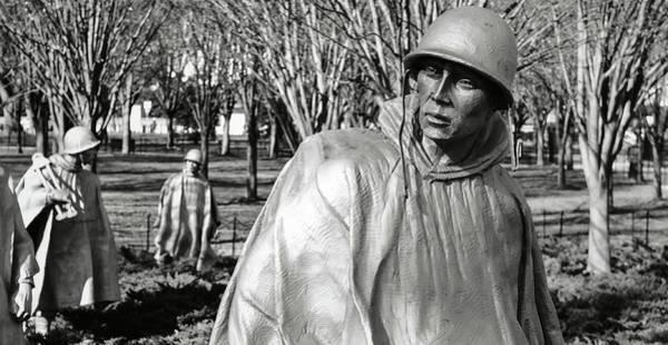 Photograph - Korean War Memorial In Washington Dc by Brandon Bourdages