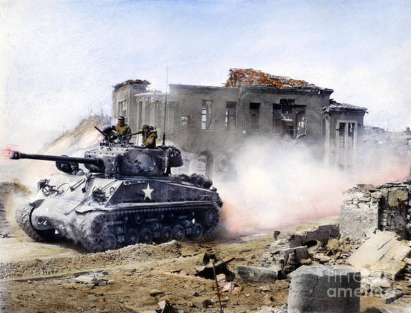 Photograph - Korean War: Tank, 1951 by Granger
