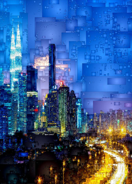 Digital Art - Kuala Lumpur At Night by Rafael Salazar