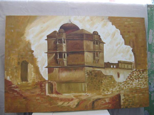 Wall Art - Painting - Kumbha Mahal by Gayatri Maheshwari
