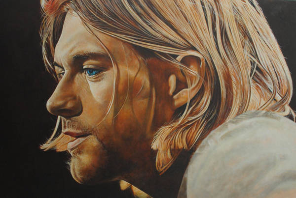 Foo Fighters Wall Art - Painting - Kurt Cobain by David Dunne