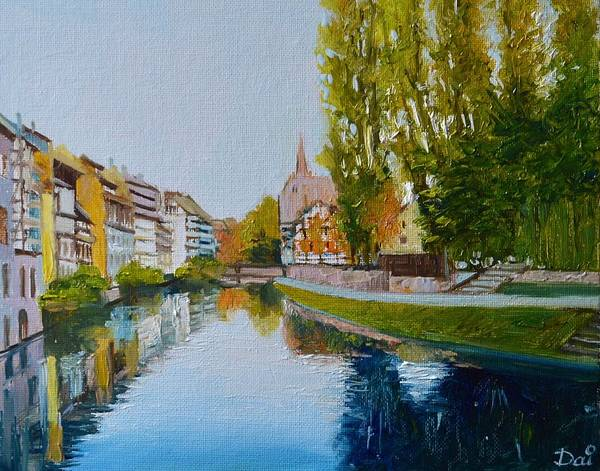Half Timbered Painting - La Petite France In Strasbourg by Dai Wynn